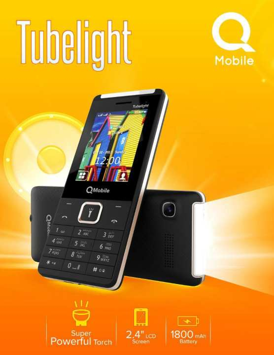 "Qmobile Tubelight - Powerfull Torch - 2.4"" display - 1800mAH Battery"