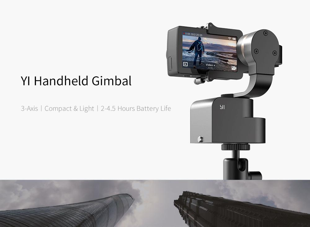 Gimbal 3-Axis Handheld Stabilizer For Lite, 4K, 4K+ And Other Action  Cameras (Gimbal Only) - Black