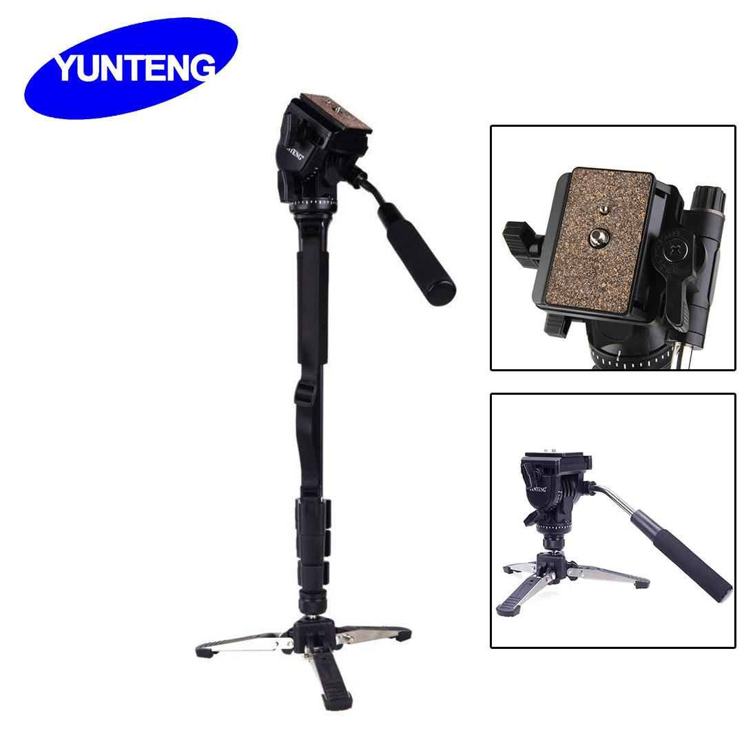 Unipod Holder and Bag Photography Tripod Light Weight Monopod with Fluid Pan Head Quick Release Plate Max.148Cm//58In Loading 3Kg 1//4 Mount