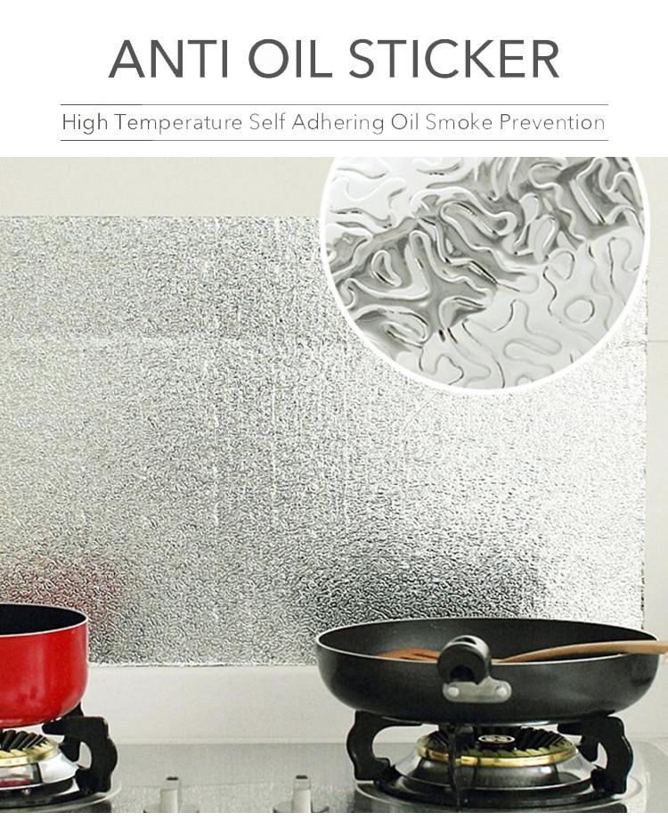 High Quality Aluminium Foil Aluminium Foil Sticker Aluminium Foil Sheet Kitchen Waterproof Self-Adhesive Anti-Mold and Heat Resistant Oil Proof Aluminium Foil Paper Sticker Roll for Kitchen Wall, Drawers, Shelves and Furniture
