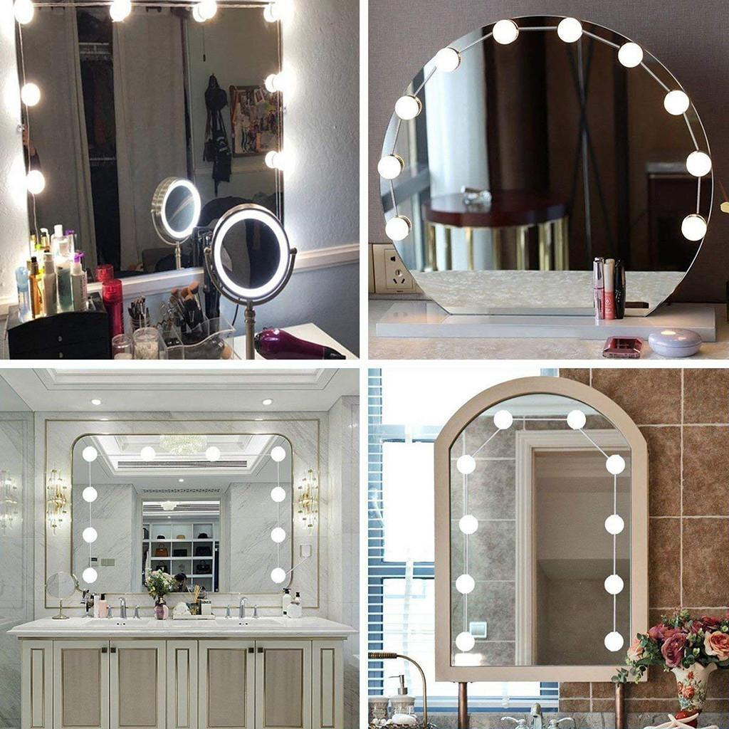 Goglor [Original]Hollywood Style LED Vanity Mirror Lights Kit With 10 Dimmable Light Bulbs For Makeup Dressing Table And USB Plug In Lighting Fixture Strip – Vanity Mirror Light