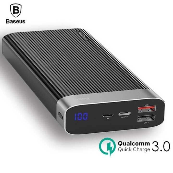 Baseus 20000mah Qualcomm QC3.0+PD Quick Charge Power Bank - Black