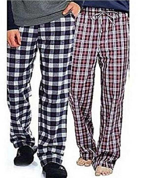 Pack of 02 - Multicolour Cotton Checkered Trouser for Men