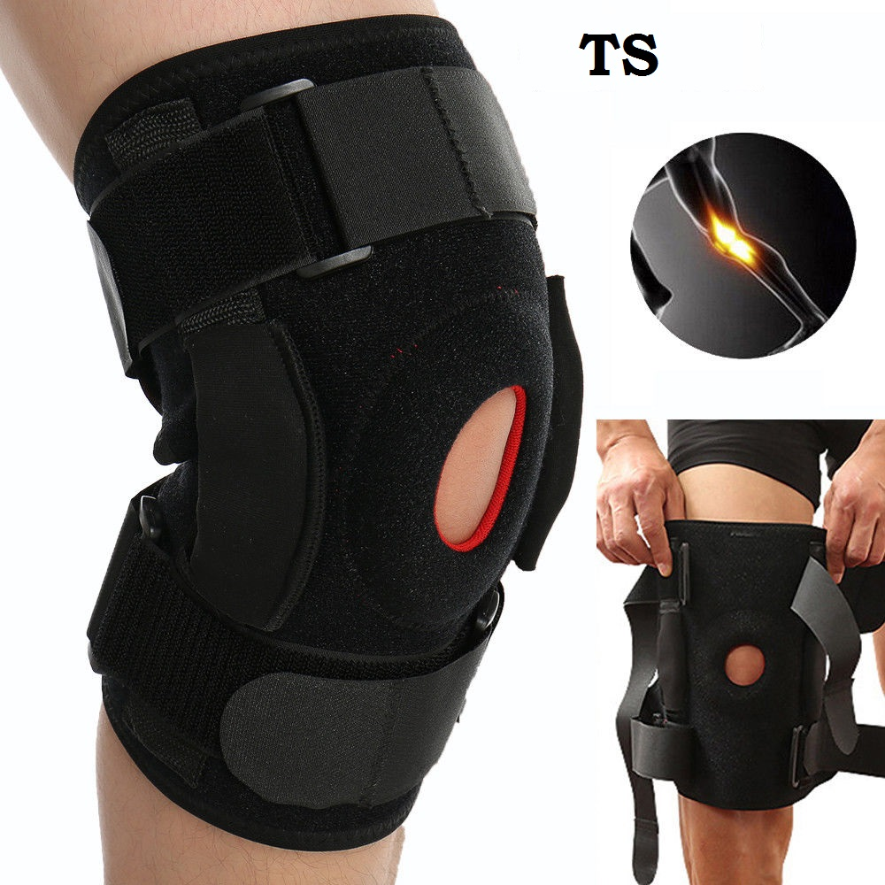 Knee Brace – Hinged, Adjustable Patella Support, Lateral / Medial Ligament (ACL, MCL, LCL), Meniscus, Knee Sprains for Soccer, Basketball, Skiing, Hockey, Running, Water Sports