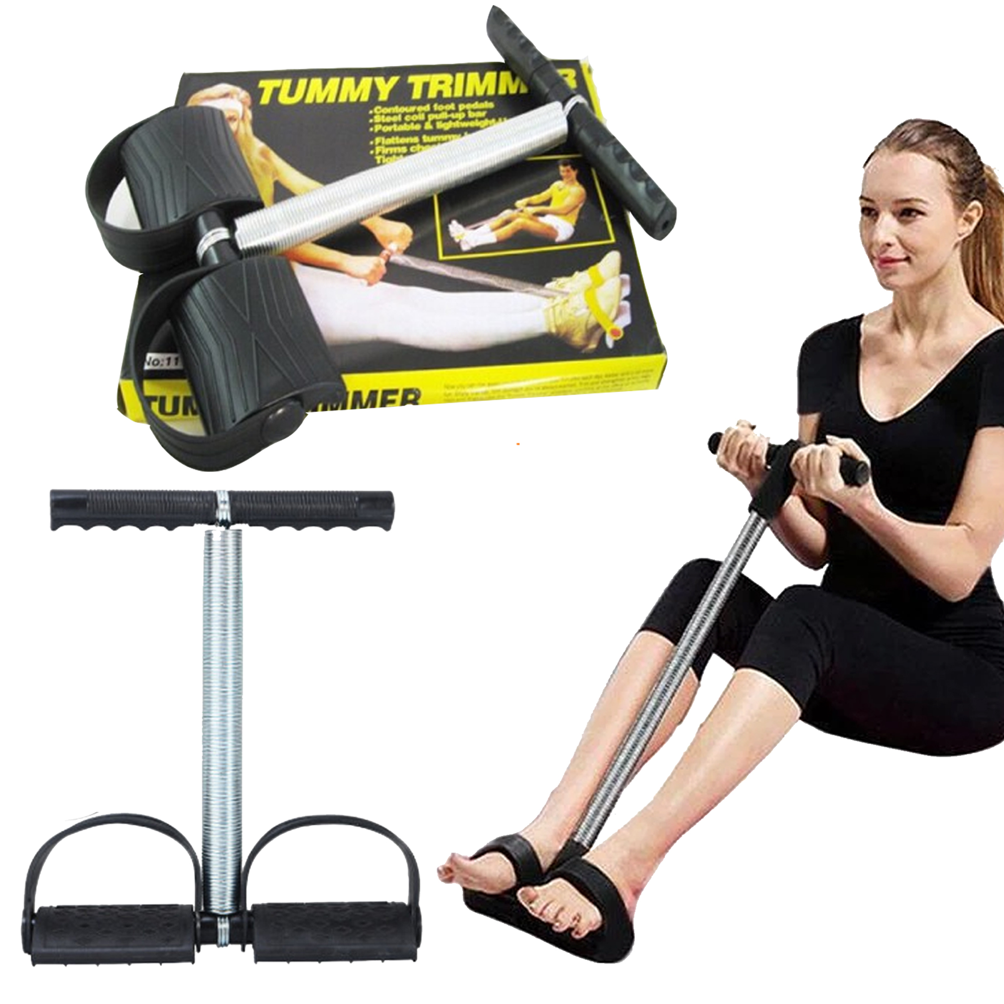 MHI Discounted Tummy Trimmer 13 Inch Bally Fat Burner Body Exerciser Weigh Loss Home Gym Home Workout Arm Muscle Builder Single And Double Spring