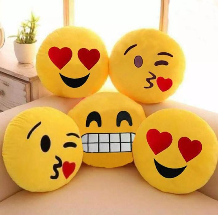 Emoji Soft Pillows Stuffed Cushions Round Home Decor Pillows