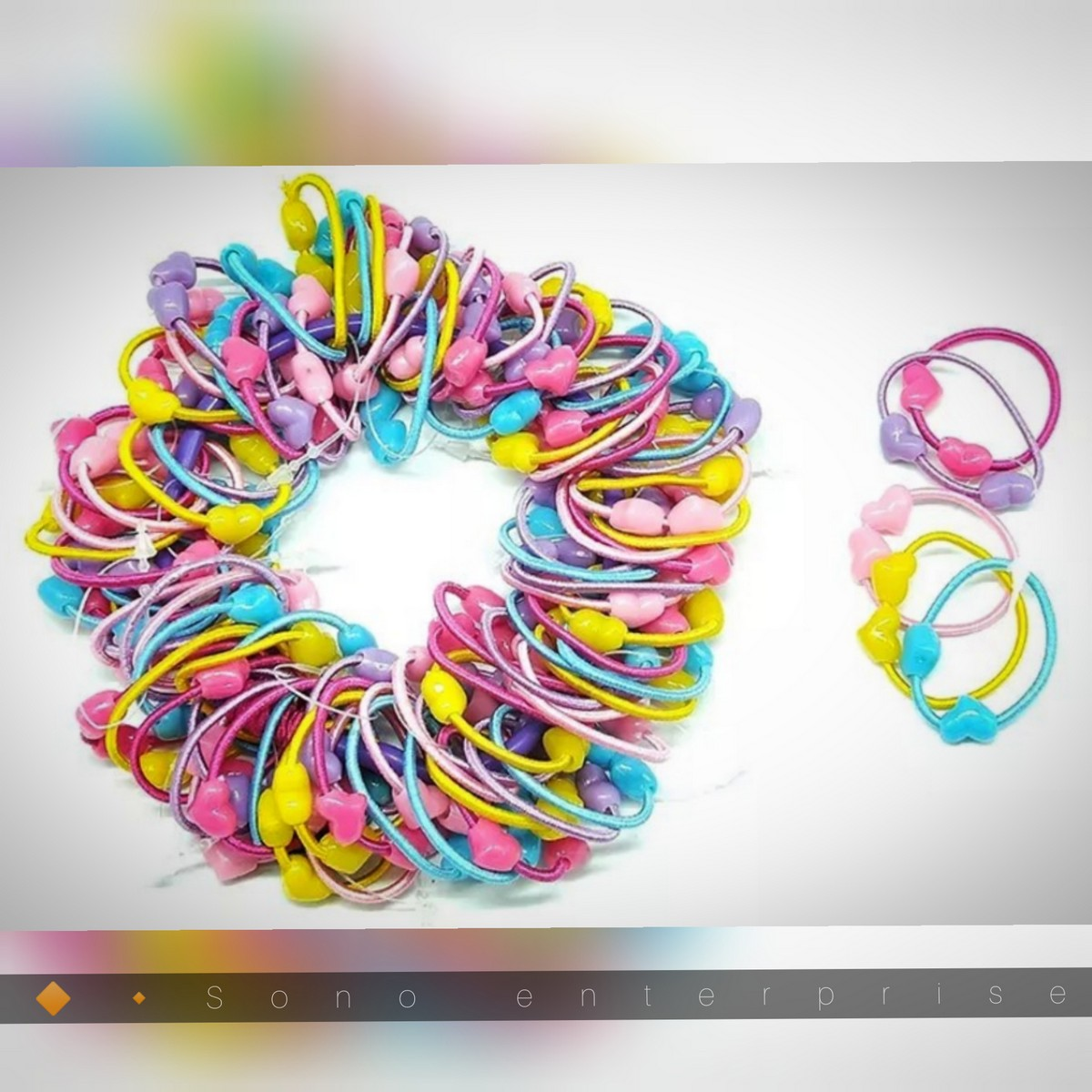 20 Pcs Girl Mini Hair Band Multi Colors Girl's Elastic Hair Ties Soft Rubber Bands Hair Poni Hair Accessories for Baby Girls Infants Toddlers Kids