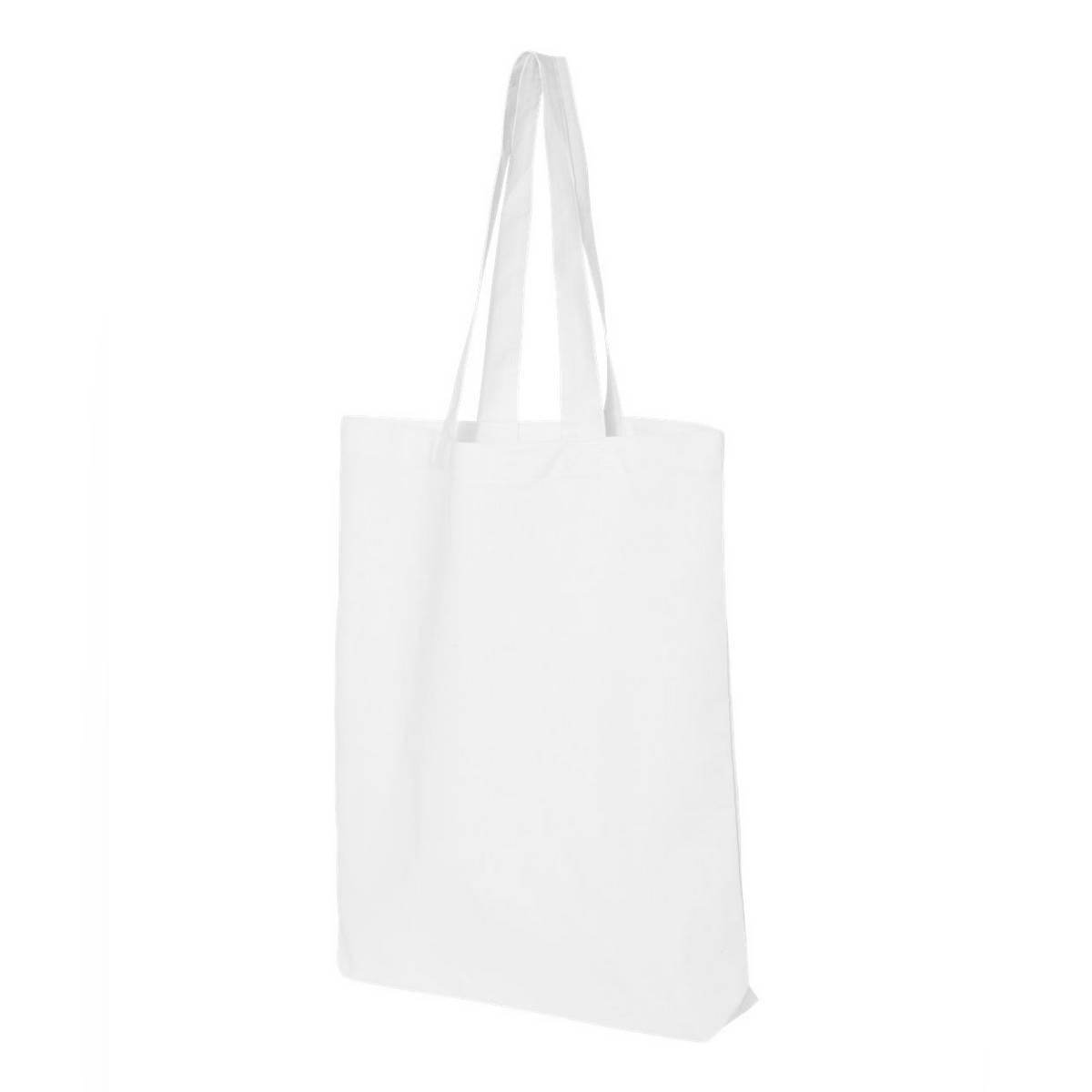 Plain Cotton Maxi Large Wide Shoulder Tote Shopper Grocery Shopping Bag - Natural