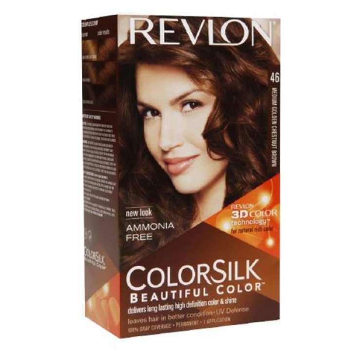 Revlon Color Silk Hair Color 3D Color Technology  Medium Golden Chestnut(46)