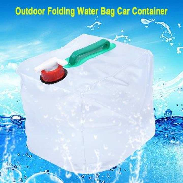 Foldable/Collapsible Water Container 5 Gallon/20L Portable Water Carrier Bag / Emergency Water Bag Outdoor Water Storage for Camping Hiking Climbing Backpacking
