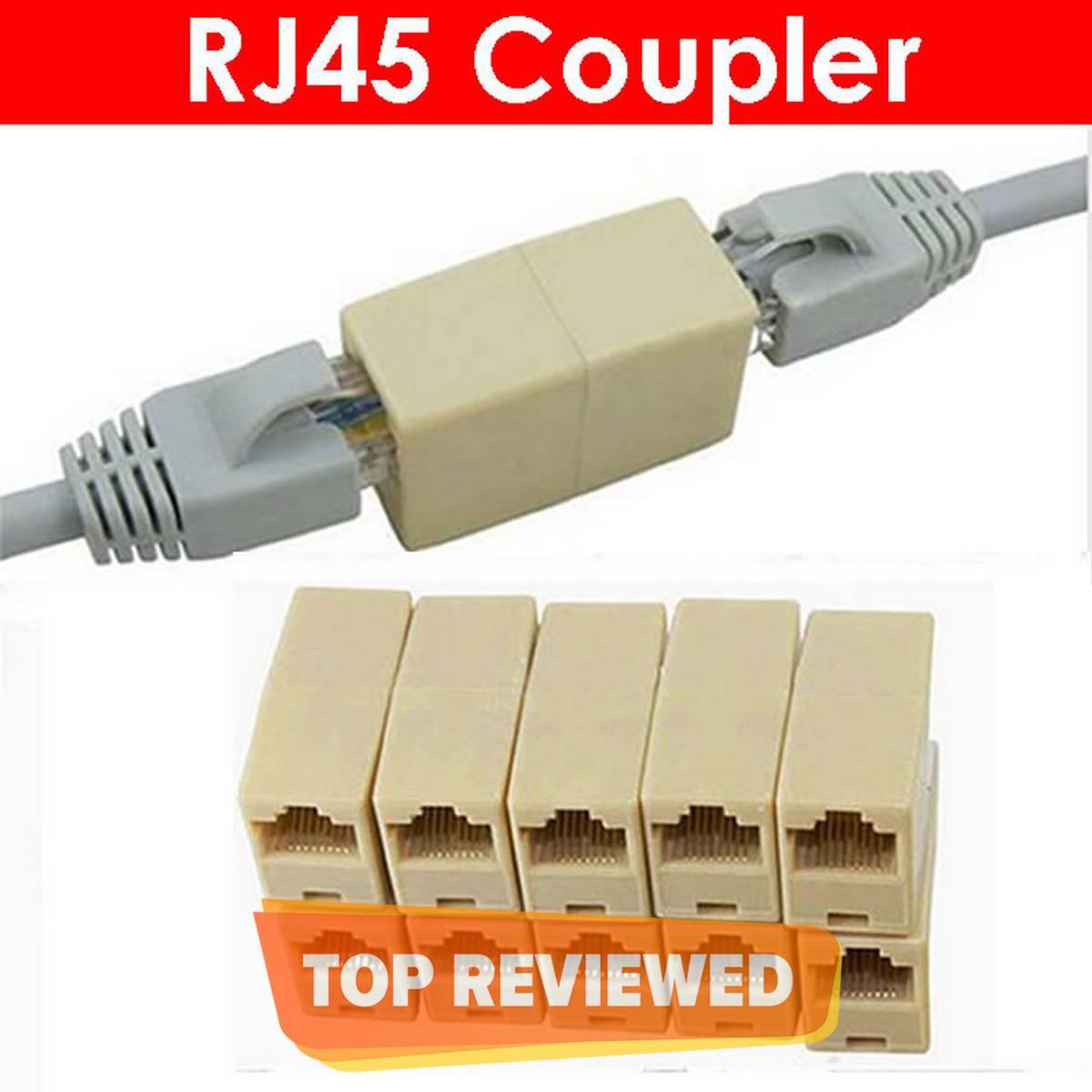 RJ45 Female Connector RJ 45 Coupler Extender Joinder Ethernet LAN Jointer
