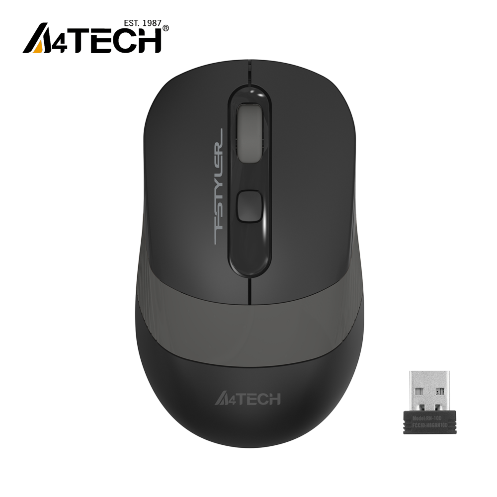 A4Tech FG10S FSTYLER - New Edition with Silent Clicks - 2.4G Wireless Mouse - 2000 DPI