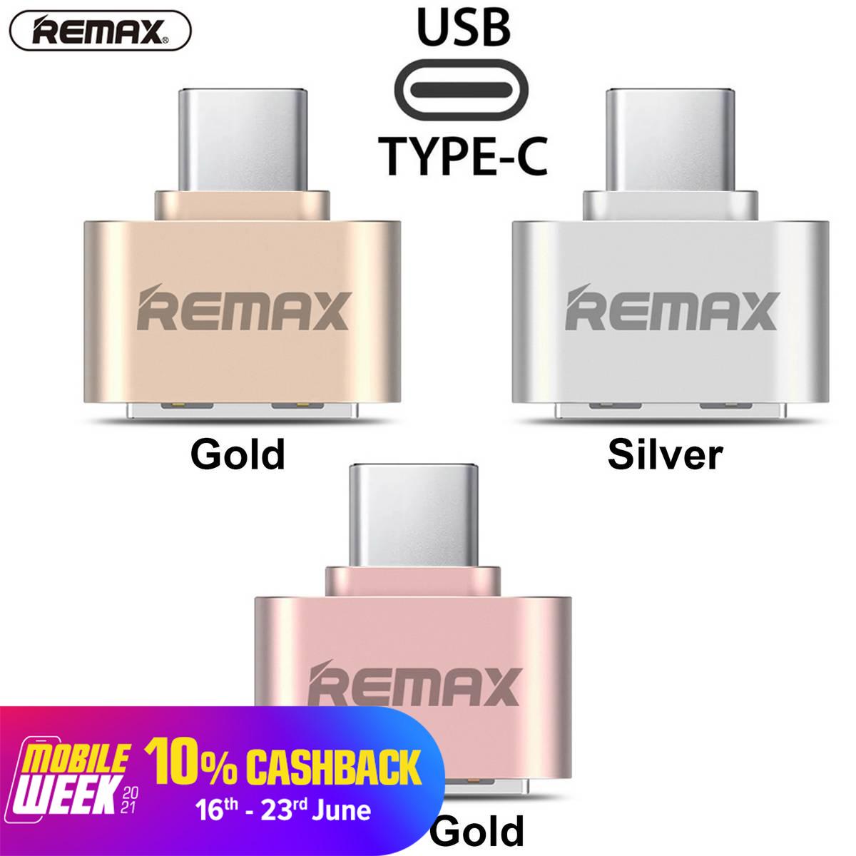 REMAX USB Type C OTG Adapter Female USB to Type C Male Data Adapter Travel Converter
