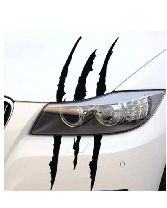 40cm*12cm car reflective monster stripe claw applique