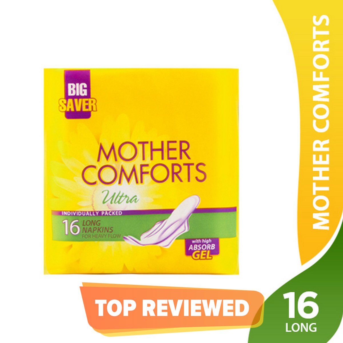 Butterfly Mother Comforts Ultra Sanitary Pads Large 16 pcs