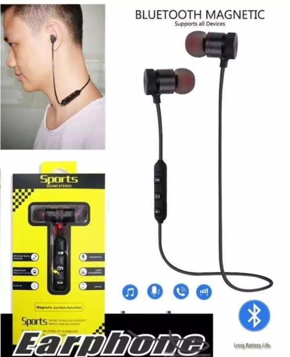 Magnetic Bluetooth Wireless Stereo In-Ear Sports Handfree / Earphone M5