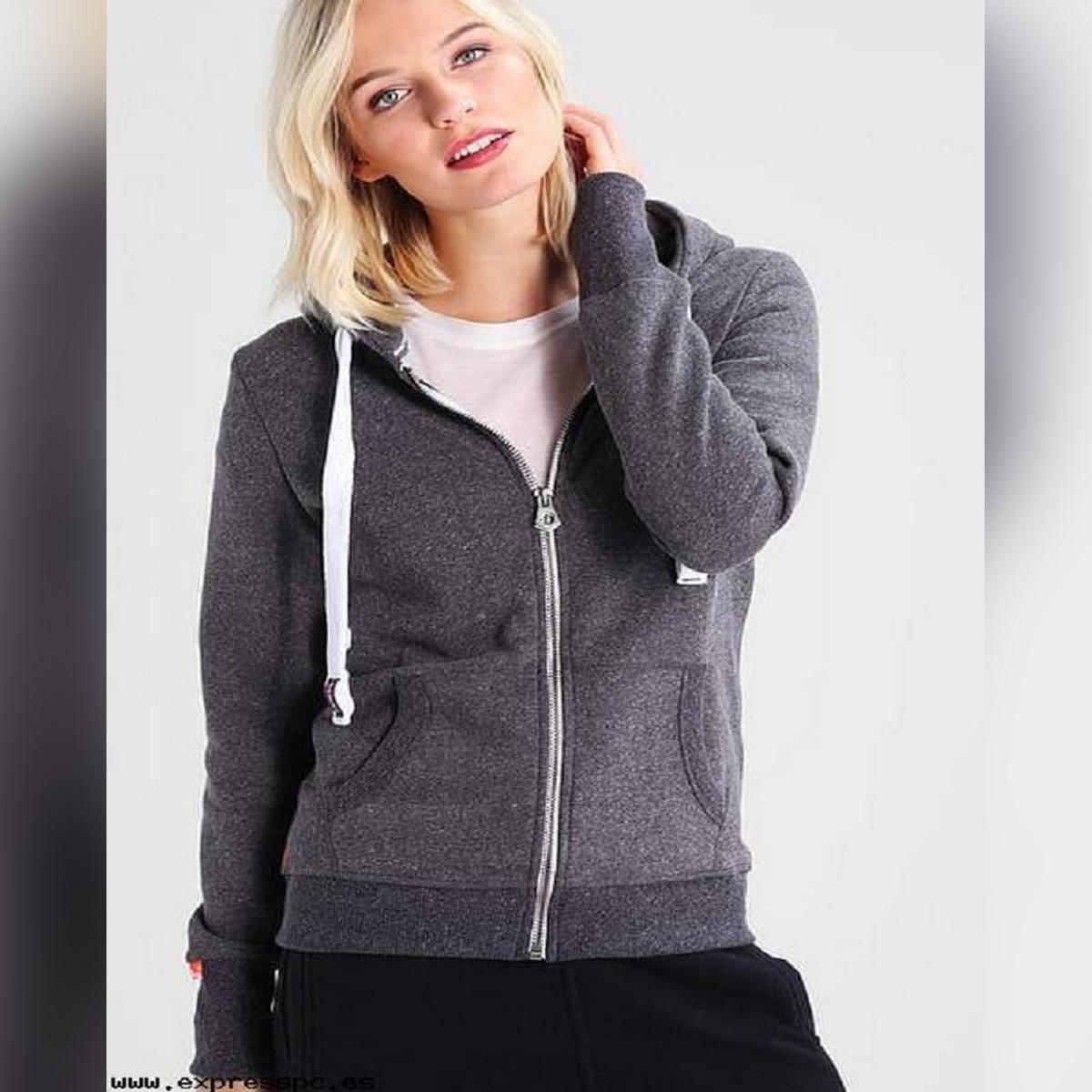Girls And Ladies Hoodies Grey