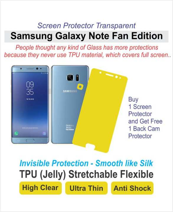Samsung Galaxy Note 7 Fan Edition - Screen Protector - Best Material - TPU (Jelly)