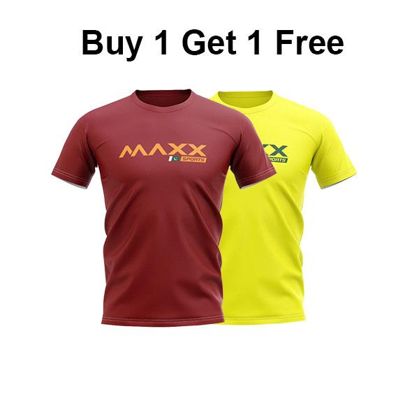 Buy 1 Get 1 Free Maxx Badminton T Shirts PLAIN TEE