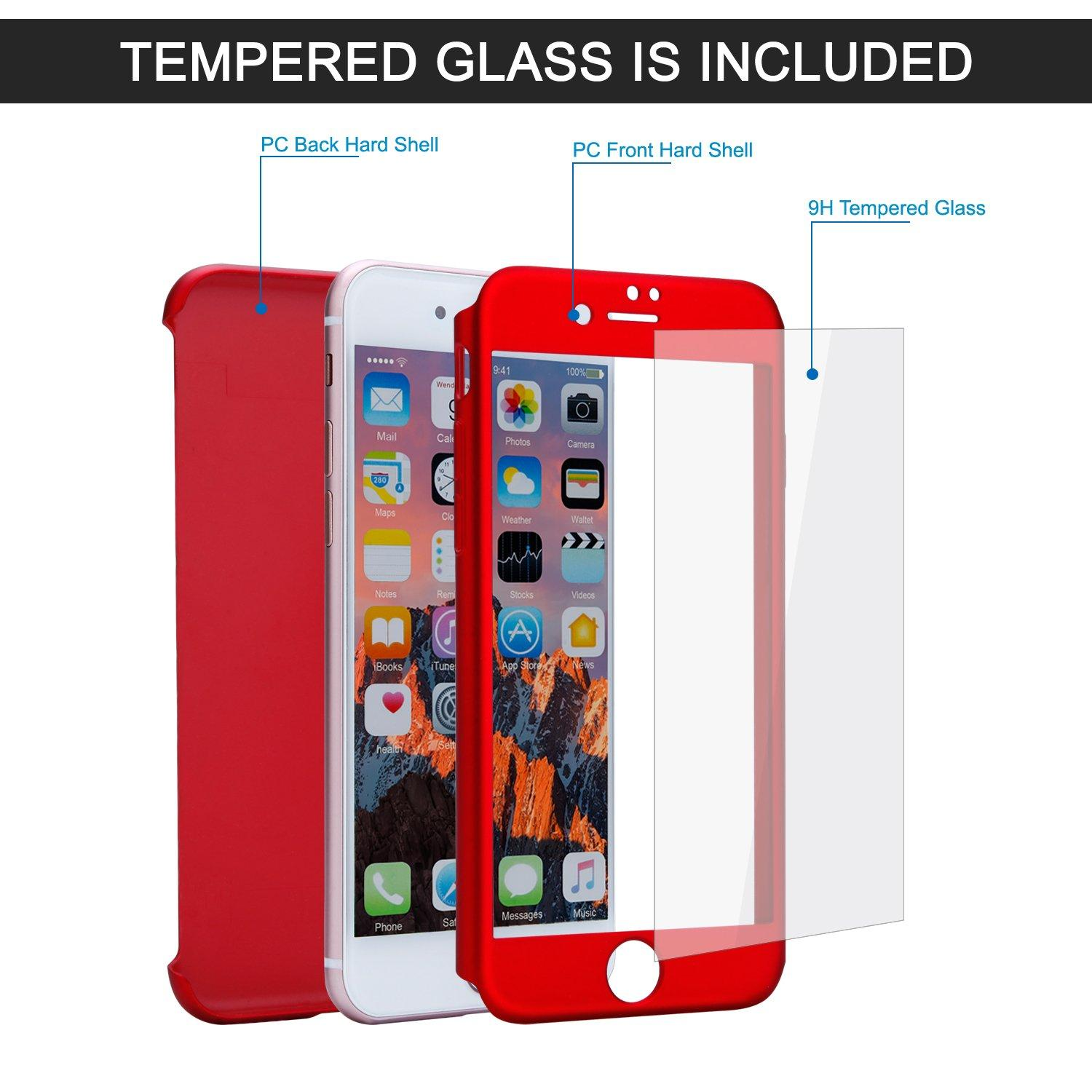 ee6d6593f Apple IPhone 7 360 Phone Cover with Glass Protector - Luxury Phone cover -  Stylish Phone