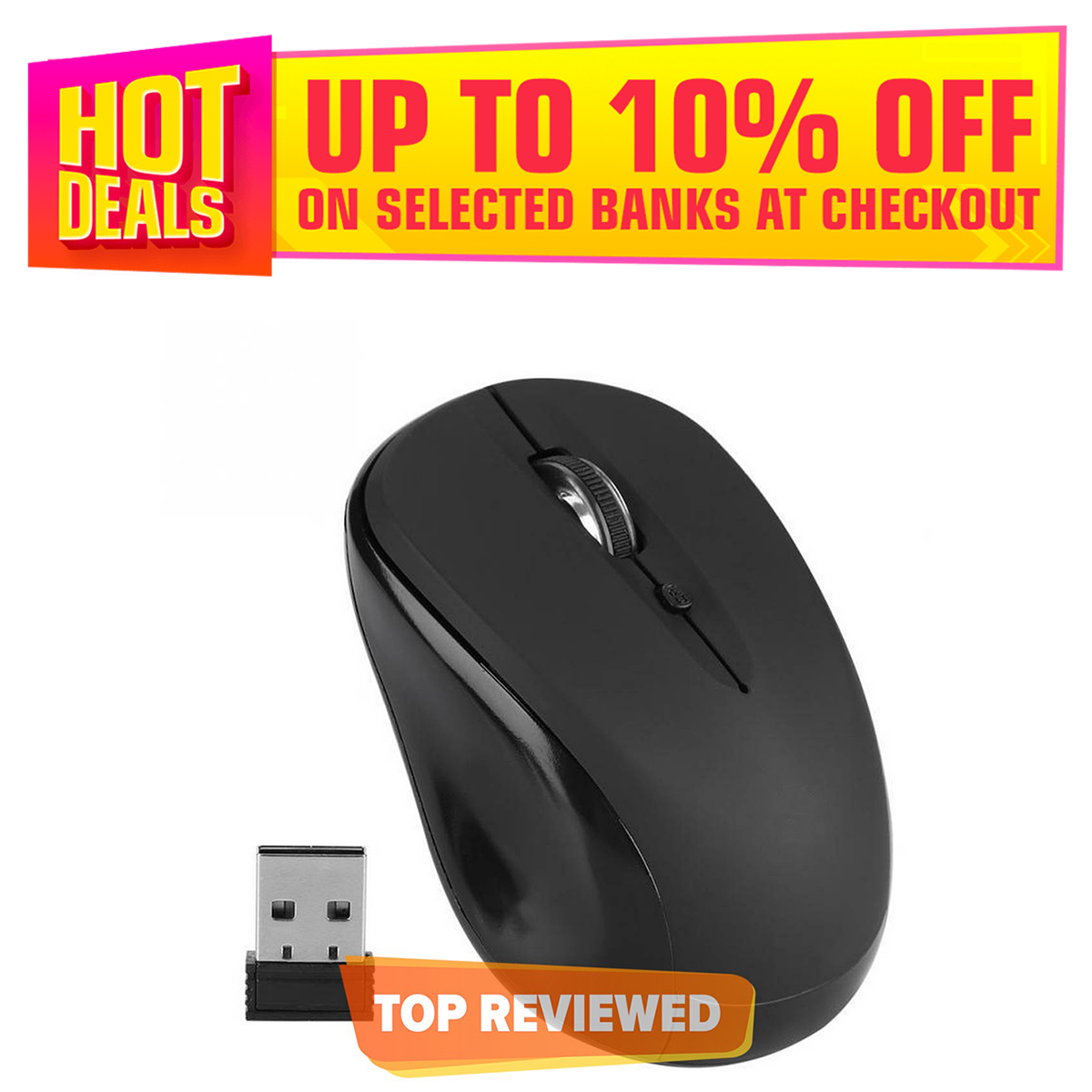 Wireless Mouse 2.4G Wireless Optical USB Mouse for Laptops Computers