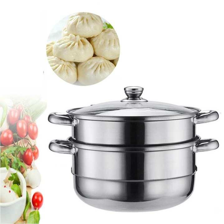 Stainless Steel Steamer 3 Tier Pot Cookware Steaming Rack Steam Stock Food steamer 4pcs