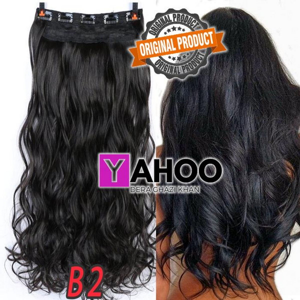 Curls Hair Extension Natural Black 32 Inch High Quality synthetic hair extension Imported quality Touch and Feel Like 100% original Smooth and soft, tangle free, durable, double weft hair extensions will not shed,