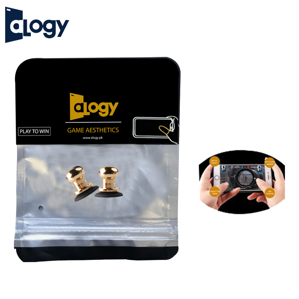 ALOGY PUBG Metal Joystick Trigger for Mobile Gaming Controller Fire Buttons L1 R1 for Gamers X13