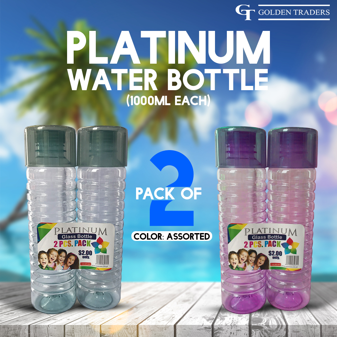 Platinum Water Bottle pack of 2 (1000ml each)