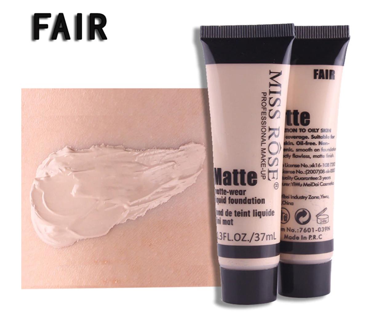 Miss Rose Long Lasting Liquid Full Skin Coverage Soft Matte Foundation 37ml