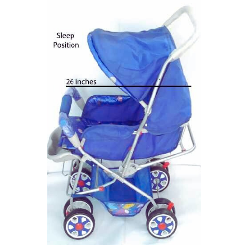 King's Baby stroller   Bbay pram with 08 wheels and 3 position for 0-18 months babies