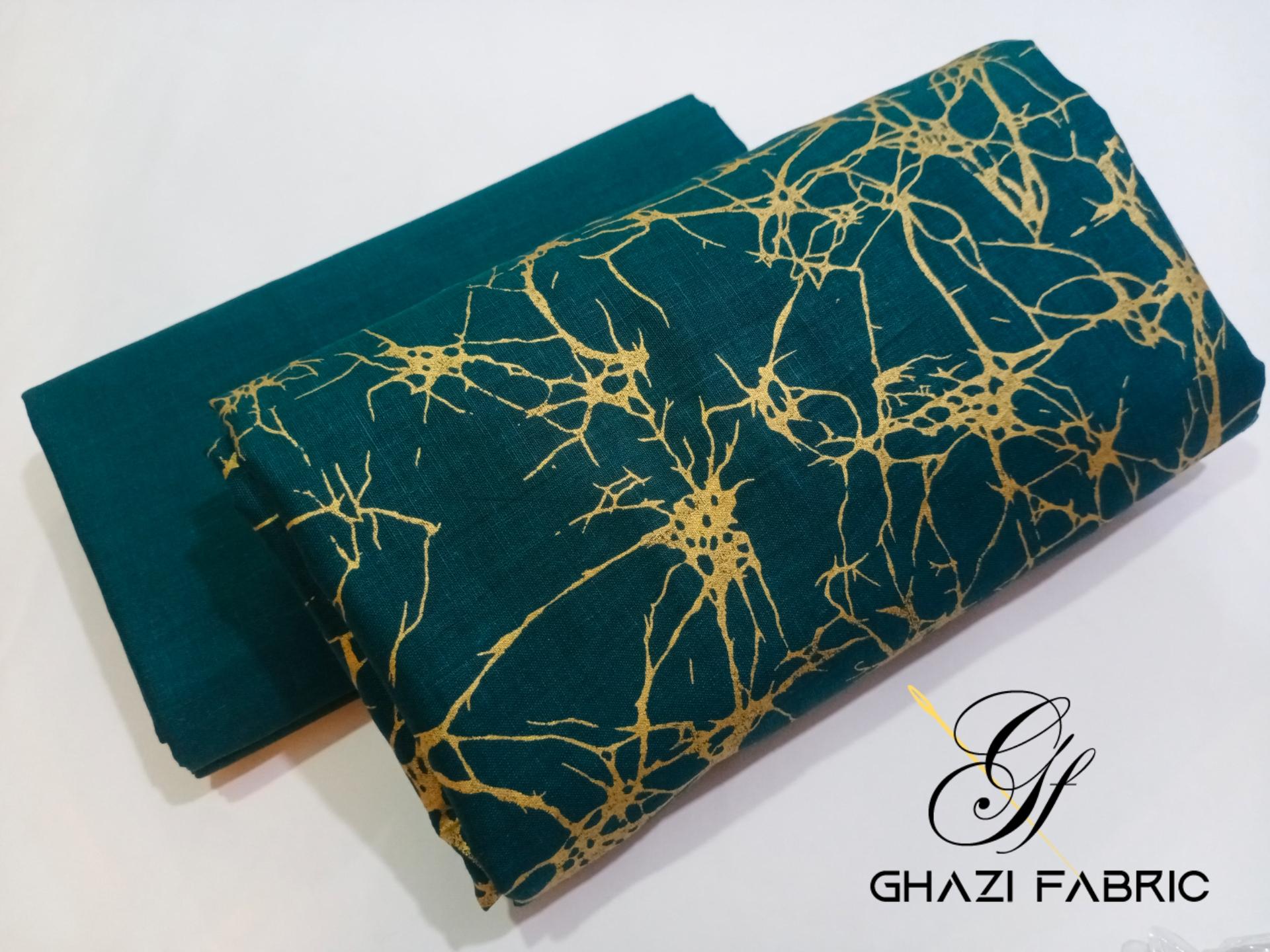 Ghazi fabric  Lawn Collection Ghazi Lawn fantasy  Unstitch Shirt & Trouser summer collection 2 pc Lawn Fantasy volume 2  women clothes zinc (GF712)
