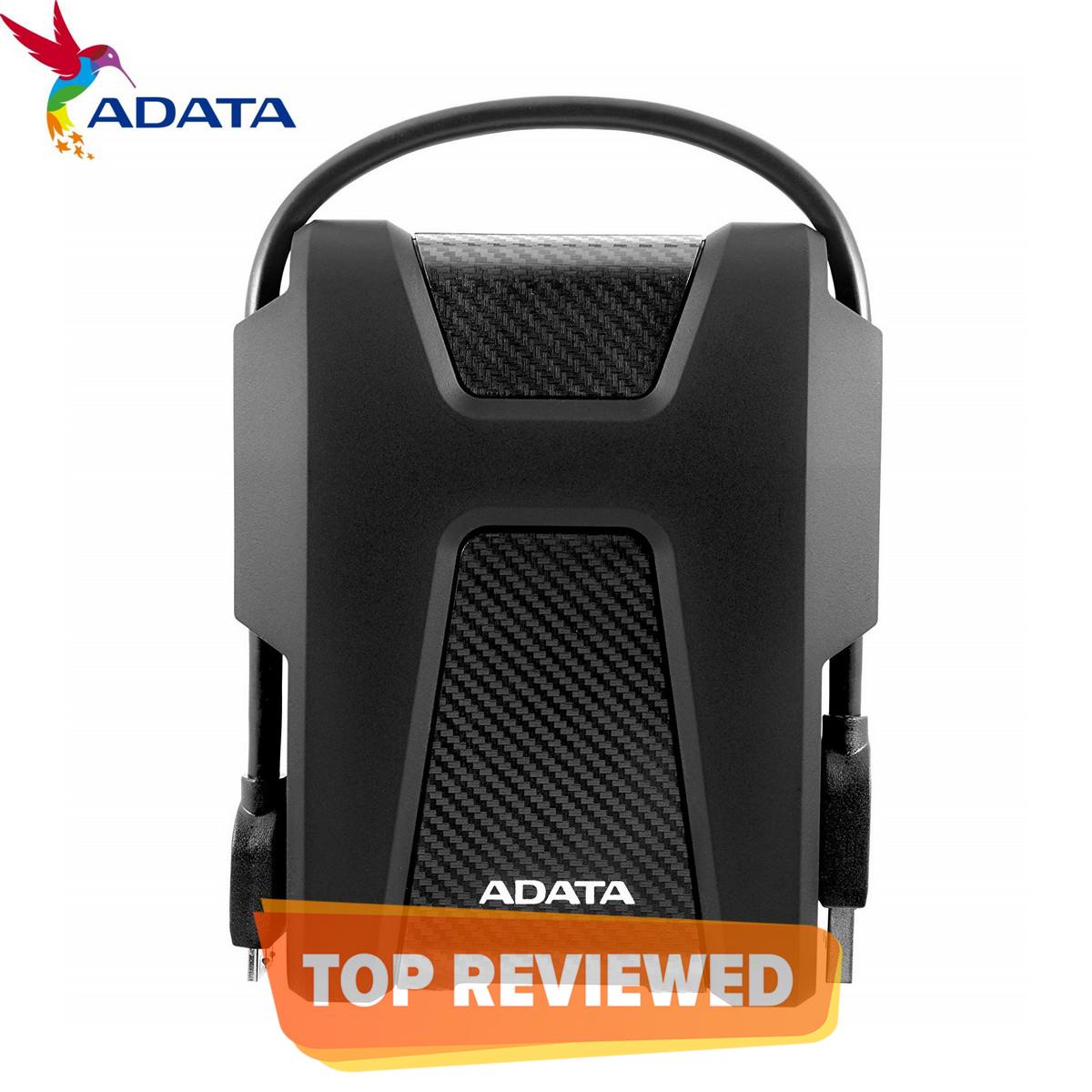 ADATA 2TB HD680 USB 3.2 Gen1 Military-Grade Shock-Proof External Portable Hard Drive Black
