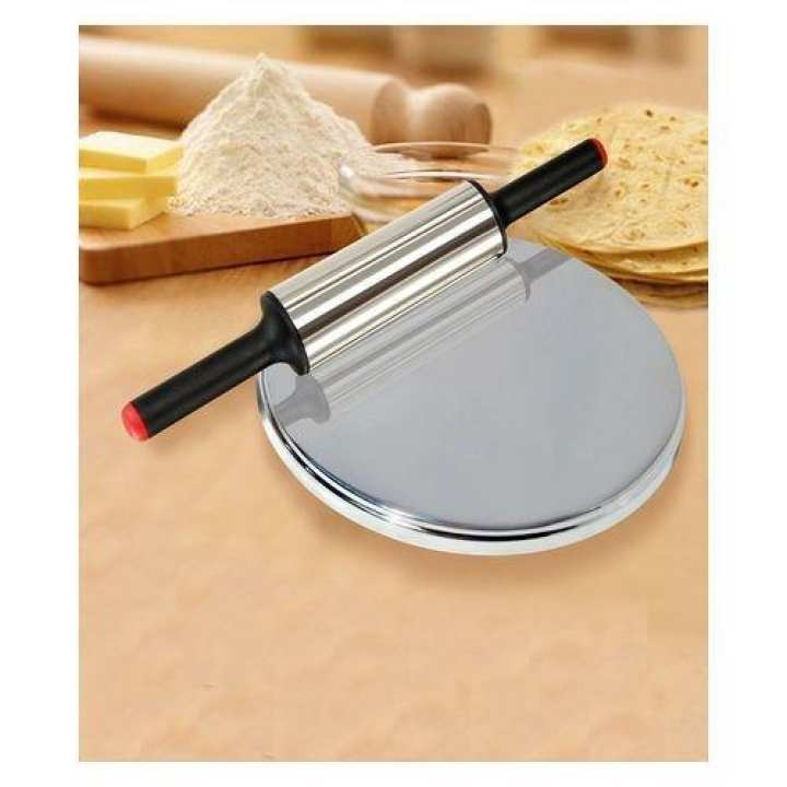 Rolling Pin and Dish Stainless Steel with Stand
