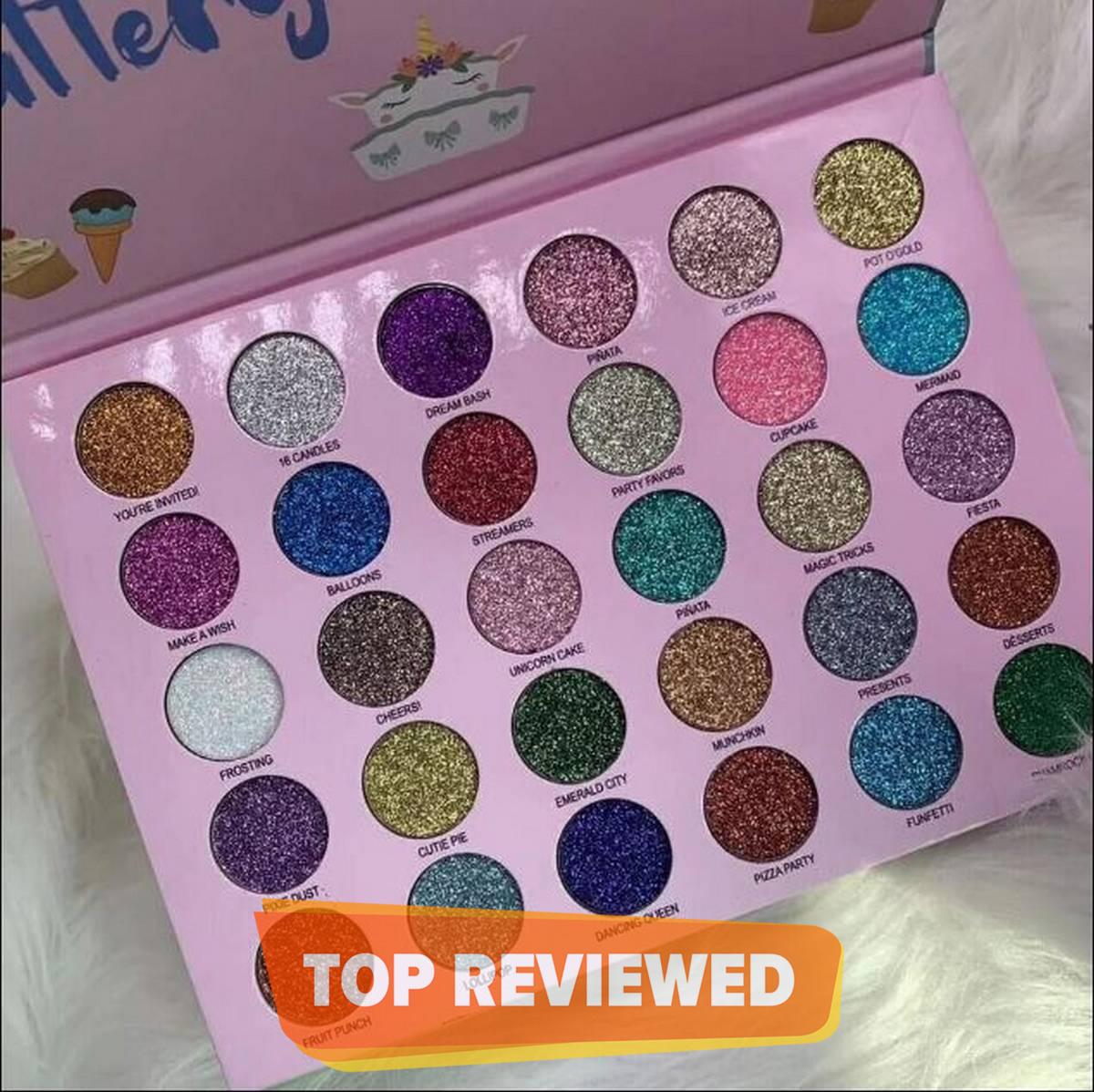 Unicorn Glamierre Glitter Eyeshadow Palette 30 Colors