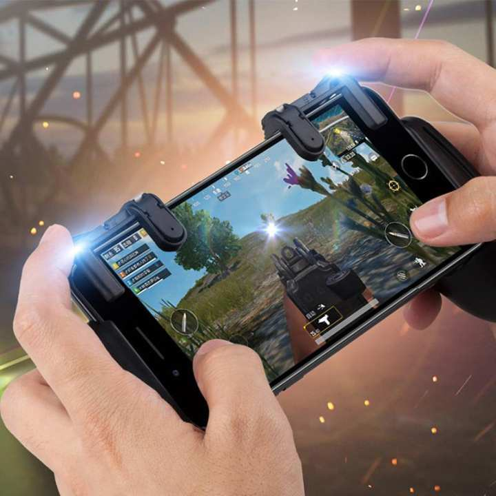 Phone Gamepad Trigger Fire Button Aim Key Smart phone Mobile Games L1R1 Shooter Pubg Controller V3.0