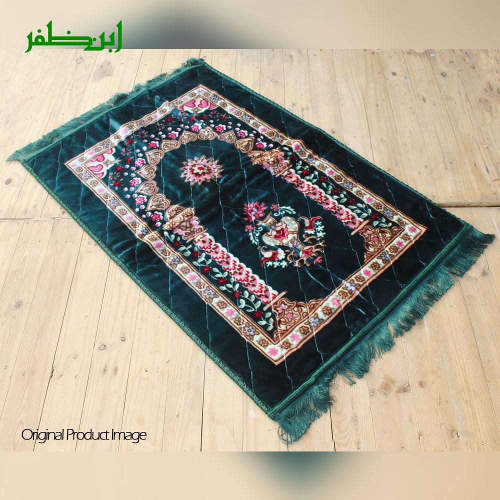 Green Colorful Velvet Foam Quilted Orthopedic Foam Padded Jai Namaz | Prayer Mat | Janamaz
