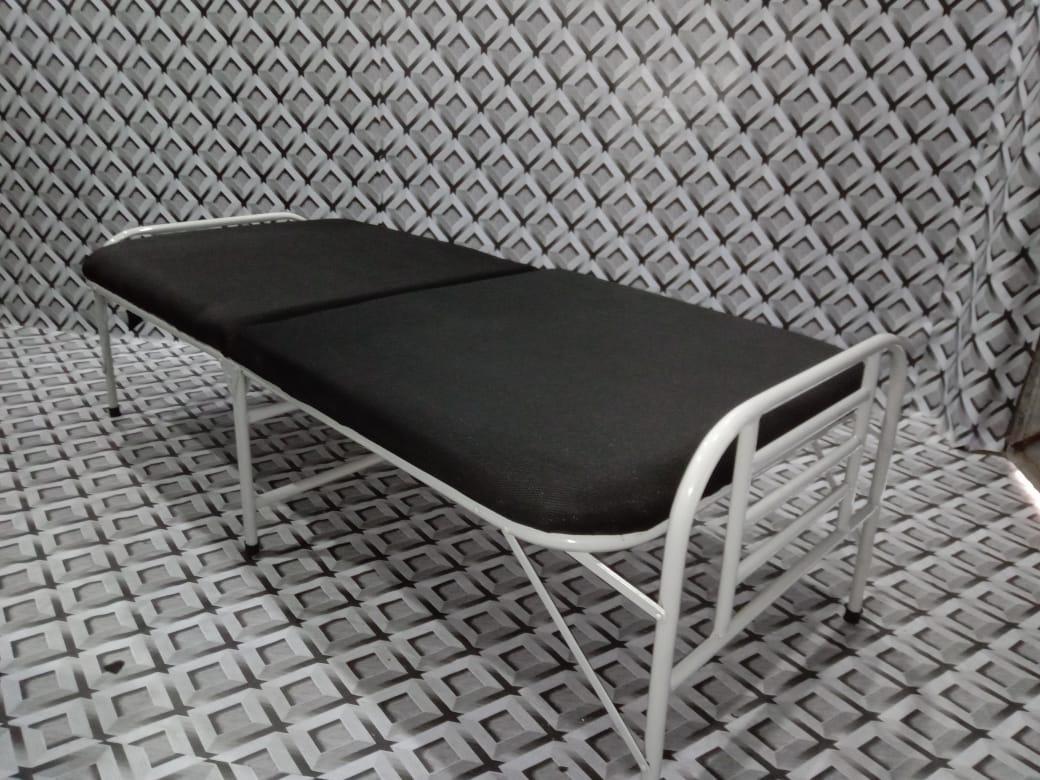 Folding Iron Bed With Mattress