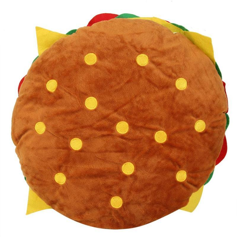 Creative pillow, ulation cushions burger case sofa cushion cover pillow lumbar super soft child household pillow
