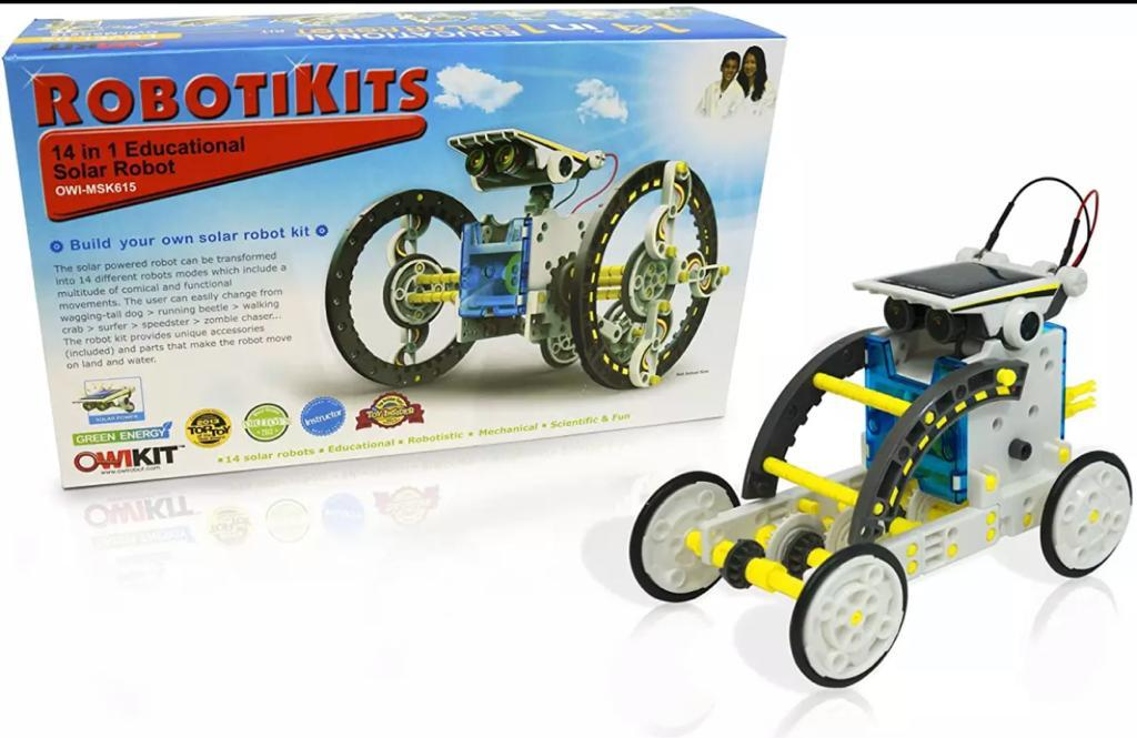14 in 1 Educational Solar Robot | Build-Your-Own Robot Kit | Powered by the Sun - Karachi Stationers