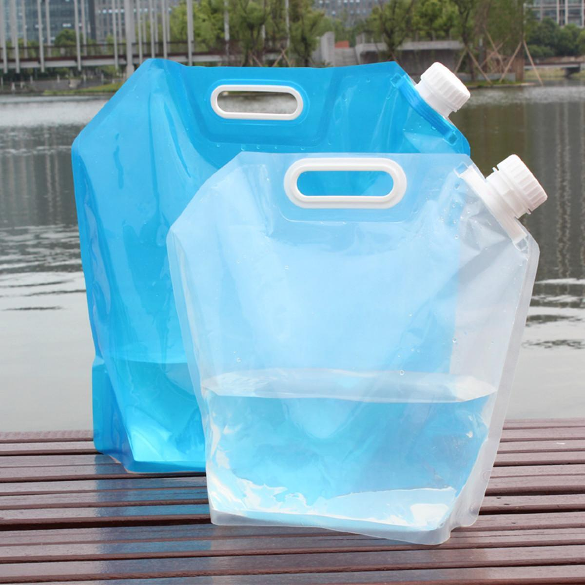 10L BPA Free Foldable Water Storage Bag Camping Picnic Container Carrier Bag