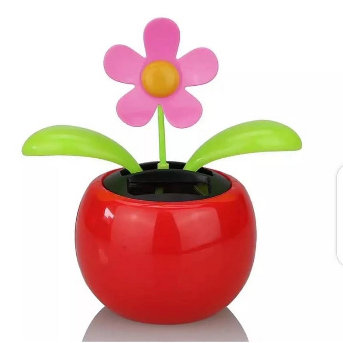 Car Decoration Solar Powered Dancing Flower Swinging Animated Dancer Toy