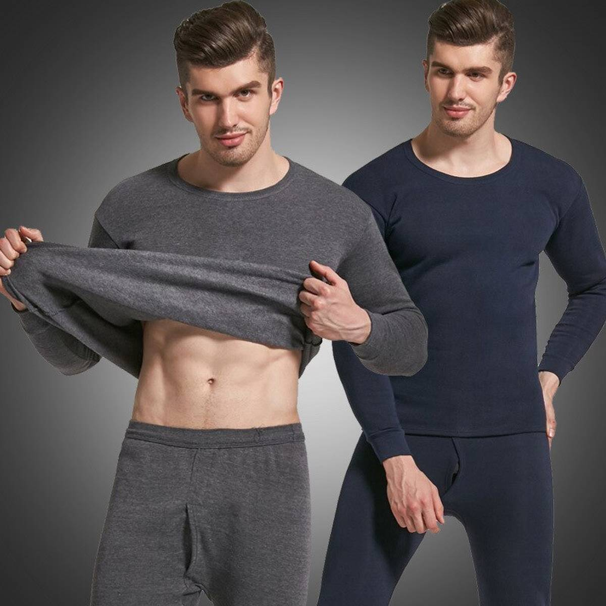 New Winter Thermal Underwear for Men Long Johns Male Thermal Shirt + pants Set Warm Thick Fleece Pajamas Suits Inner Wear for Men