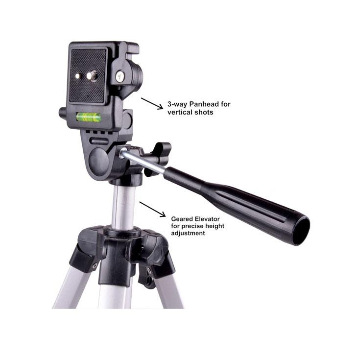 330 Big Tripod 5 Feet Mobile Stand For Mobile and Digital Camera Video Capturing by Aleya Dreams Collections