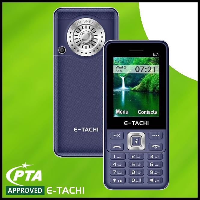 E Tachi E7i Mobile Phone Powerful Battery Loud Speaker Torch - Dual SIM ETachi Brand Warranty