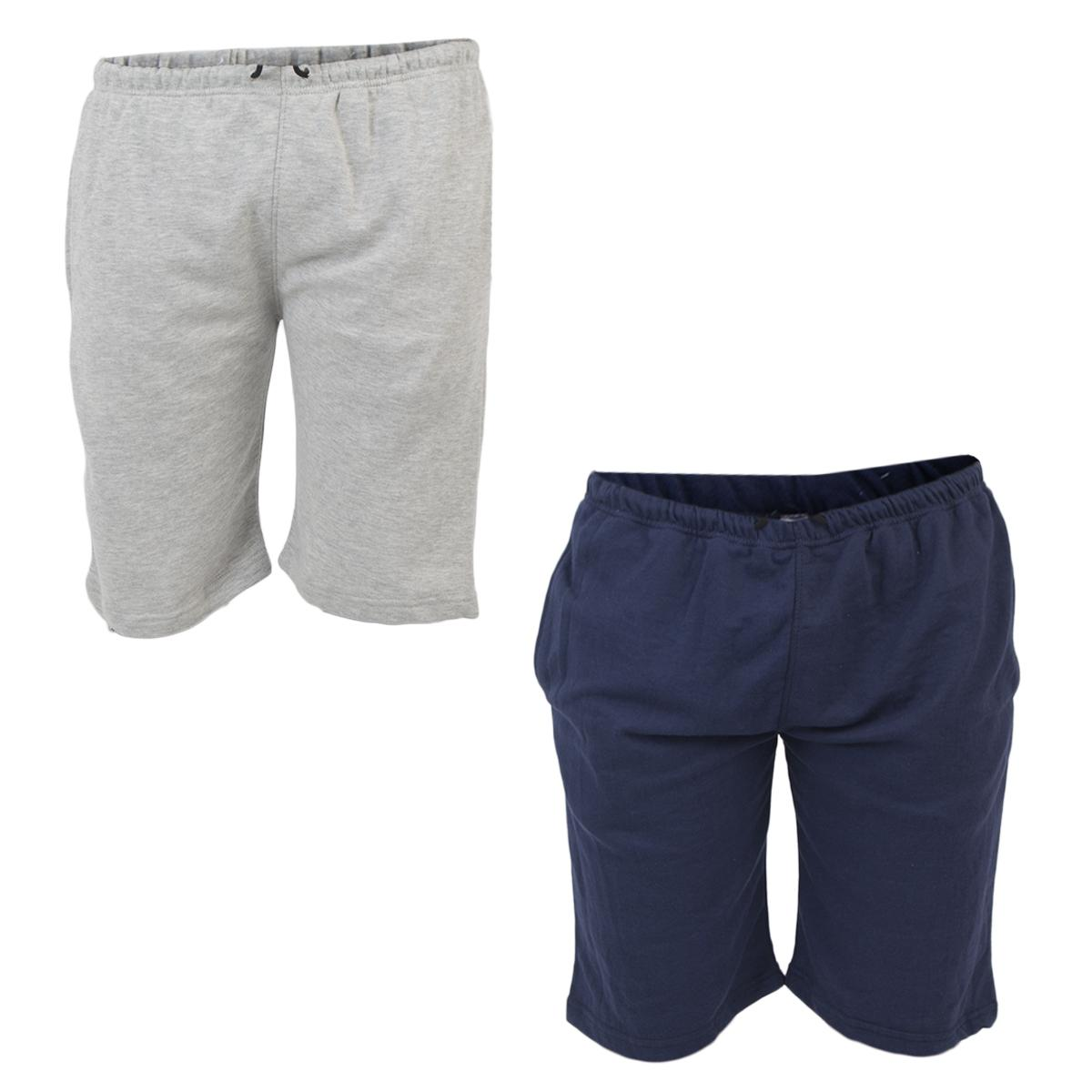 Daraz Select Heather Grey & Navy Blue French Terry Shorts for Men
