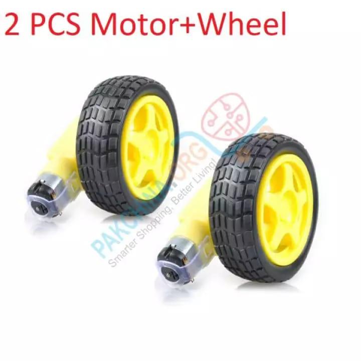 2 PCS TT Motor Smart Car Robot Gear Motor and Wheel for Arduino DIY Kit Smart Car/Robot Car
