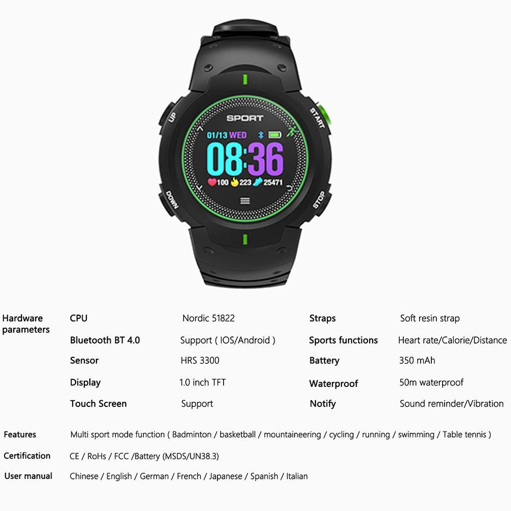 Life Eraser Bluetooth Smart Watch IP68 Waterproof Multi-sport Mode Fitness  Tracker Sport Smartwatch