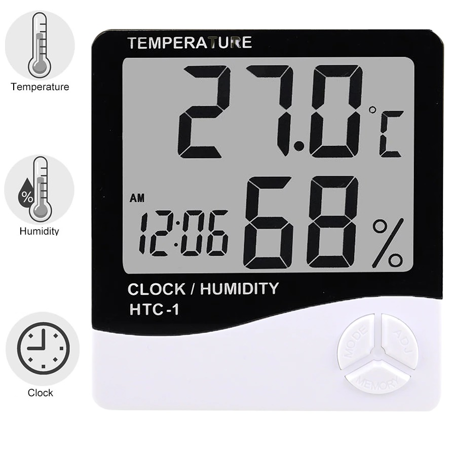 HTC-1 Digital LCD Thermometer Hygrometer Electronic Temperature Humidity Meter