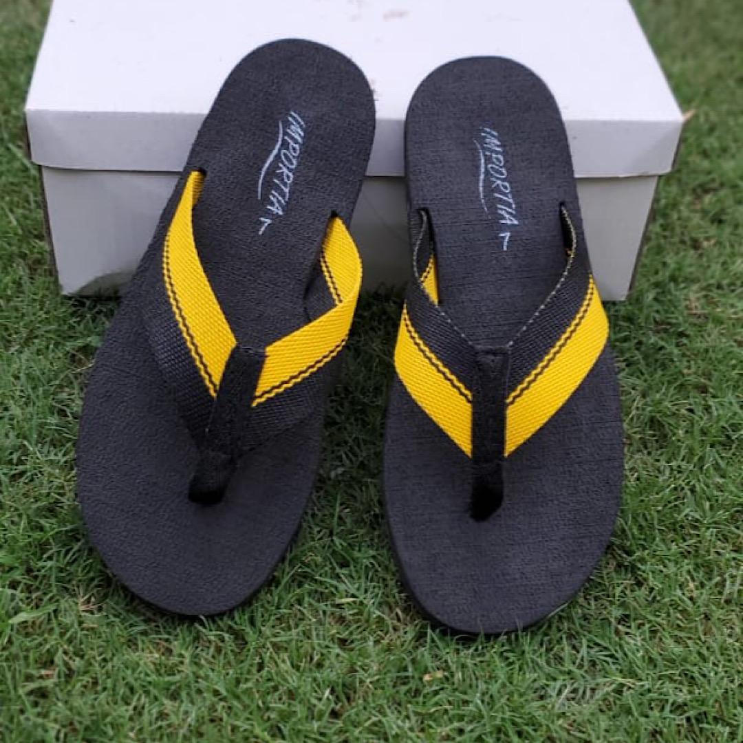 Black&Yellow Summer Slippers/Flipflops for Men